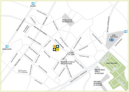 Localisation de l'hémicycle